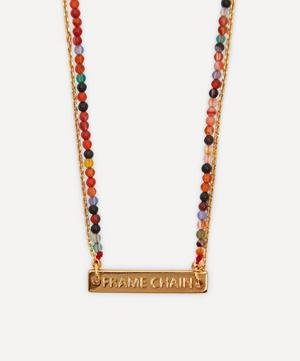 Gold-Plated It's A Wrap Double Beaded Glasses Chain