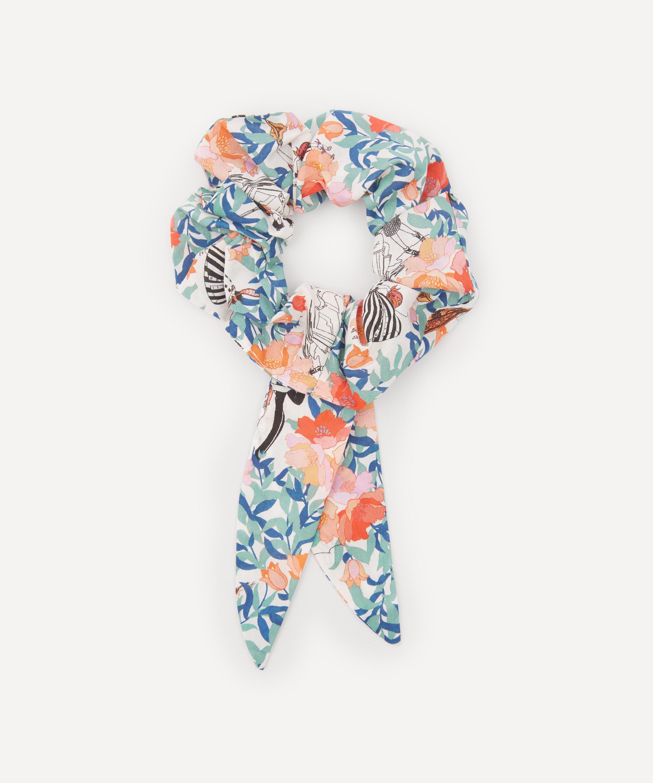 Liberty of London Elegant Fine Pure Cotton hair scrunchies Handmade In UK