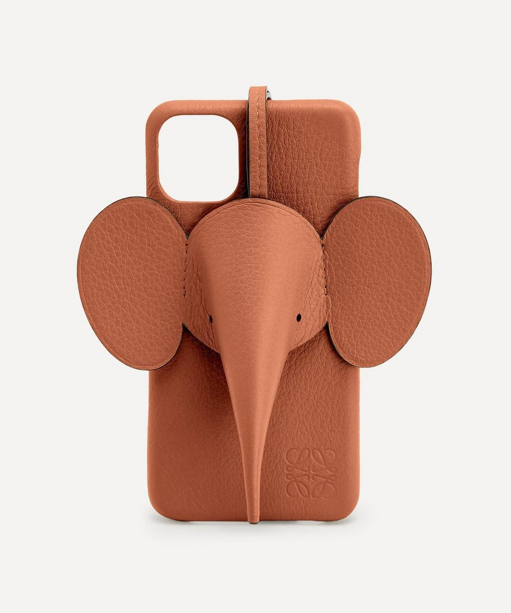 Loewe - Elephant Calfskin Leather iPhone 11 Pro Max Case