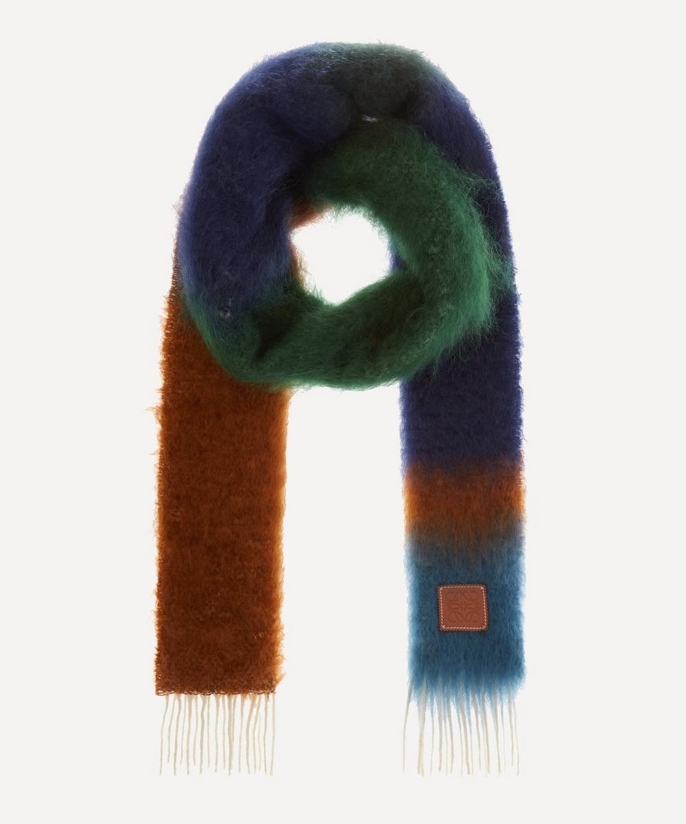 Loewe - Striped Mohair-Blend Scarf