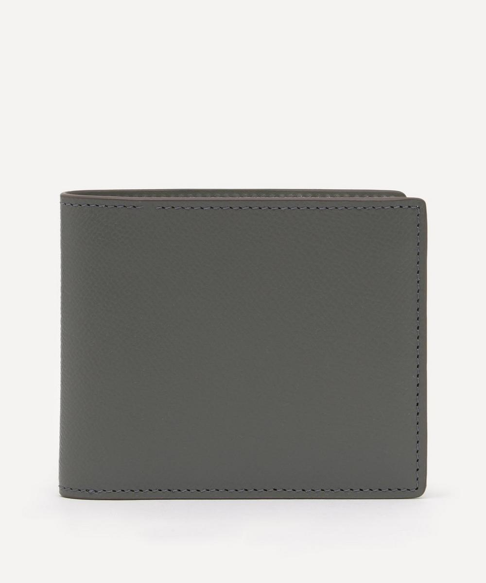 Maison Margiela - Grainy Logo-Embossed Leather Billfold Wallet