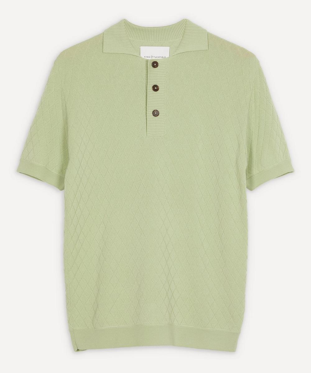 King & Tuckfield - Textured Polo Shirt