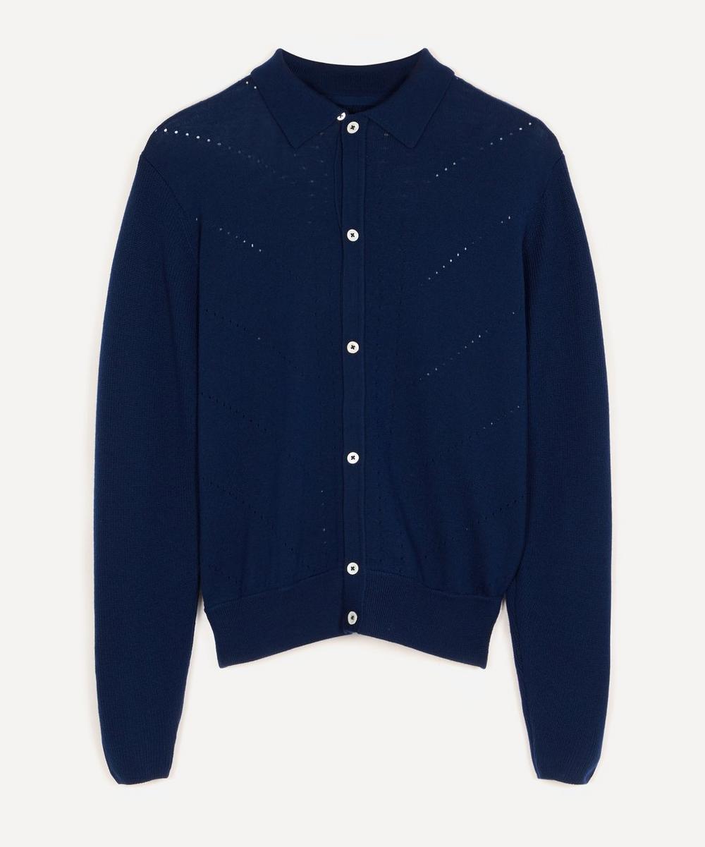 King & Tuckfield - Eyelet Knit Shirt