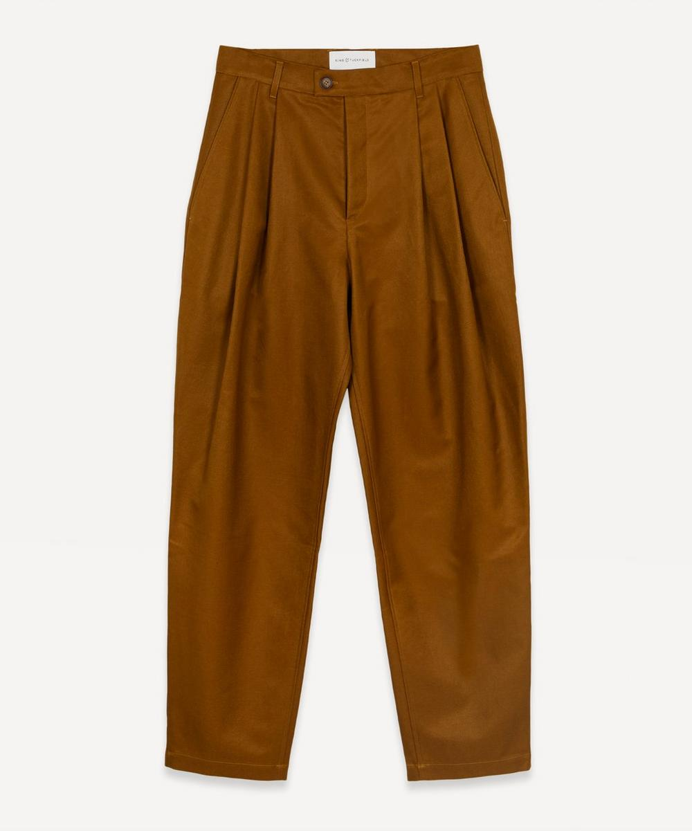 King & Tuckfield - Tapered Cotton Trousers