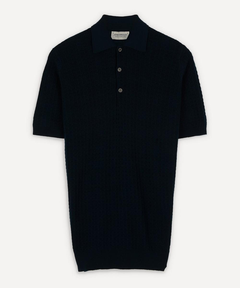 John Smedley - Textured Merino Wool Polo-Shirt