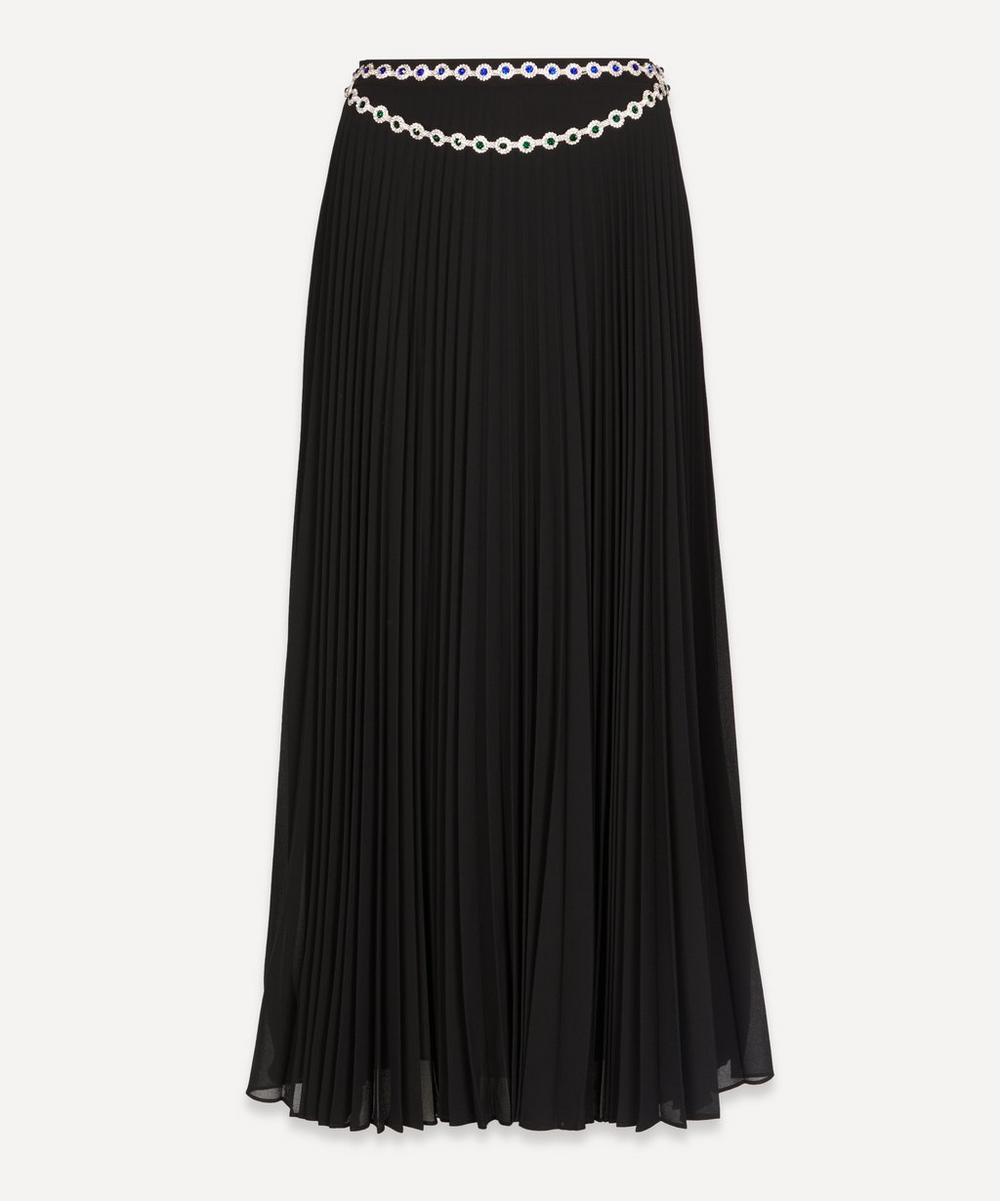 Christopher Kane - Crystal Belt Pleated Skirt