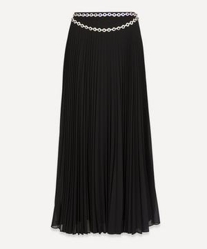 Crystal Belt Pleated Skirt