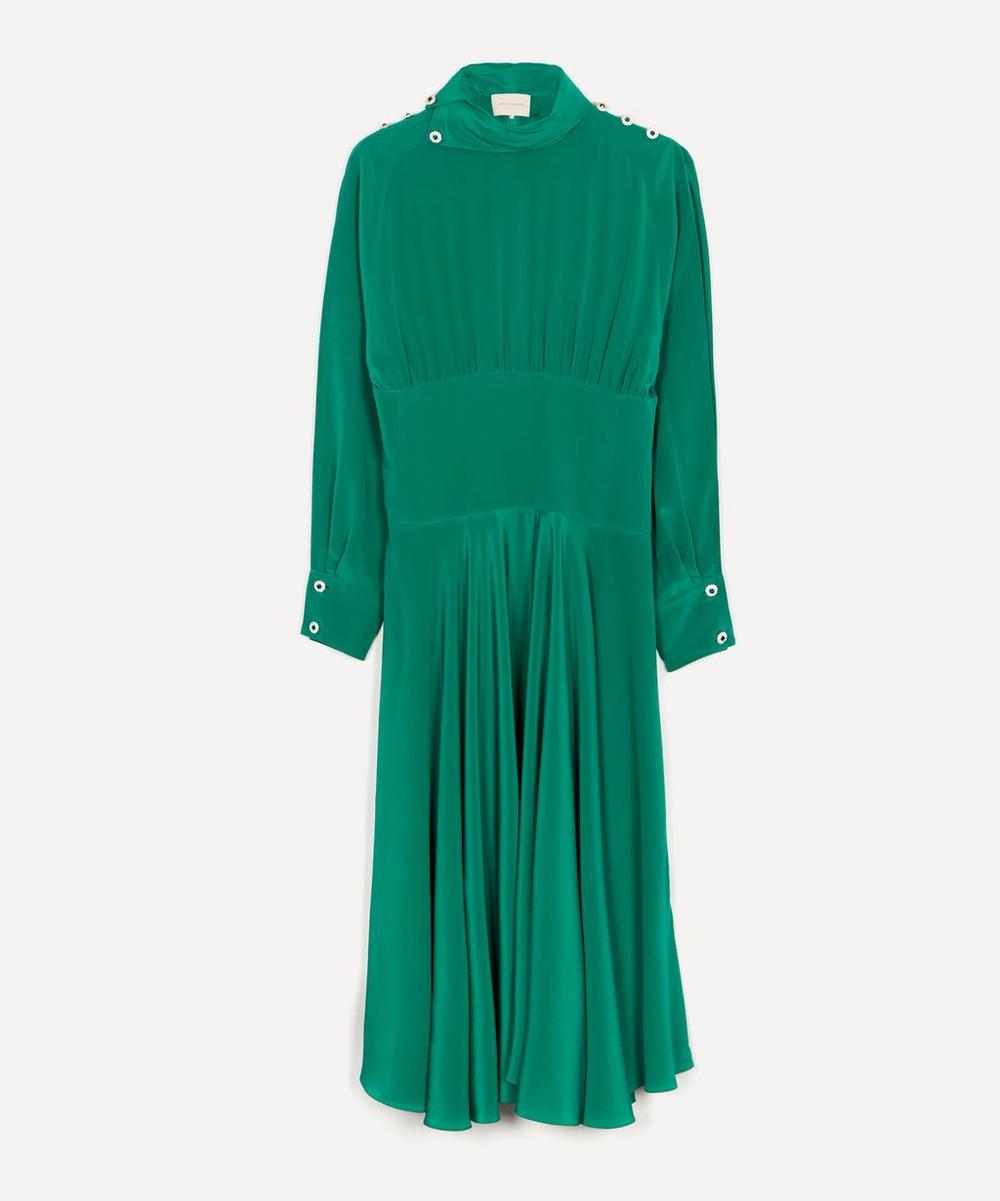 Christopher Kane - Crystal Button Draped Dress