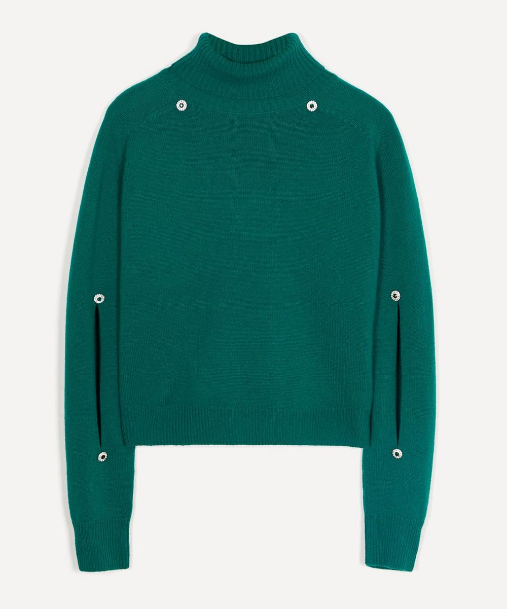 Christopher Kane - Crystal Button Turtle-Neck Jumper