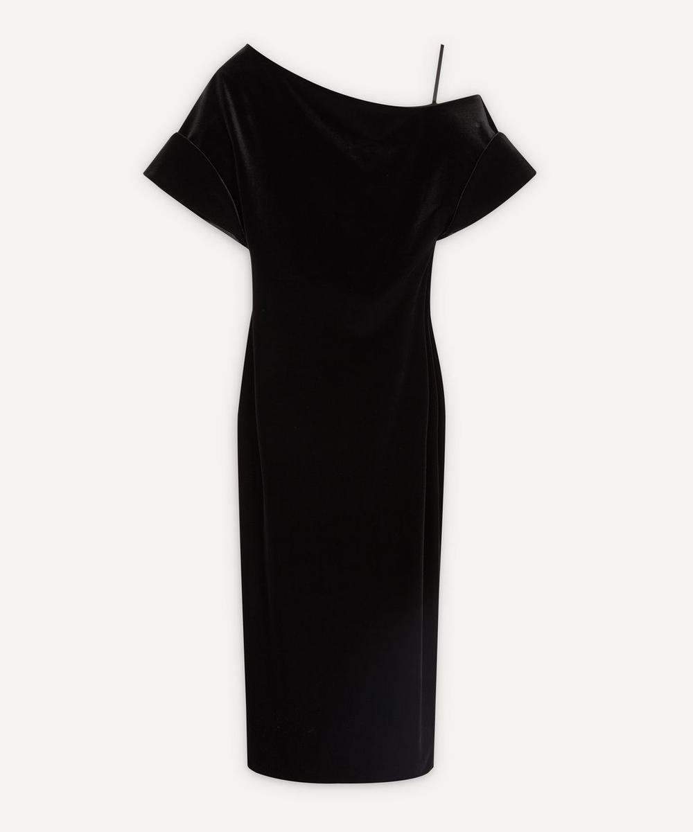 Christopher Kane - Asymmetric Stretch-Velvet Dress