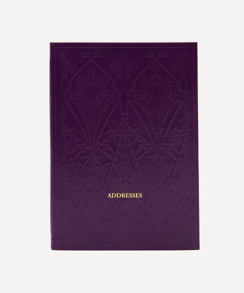 Liberty London - Leather A5 Ianthe Address Book