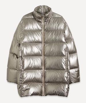 Oversized Metallic Puffer Jacket