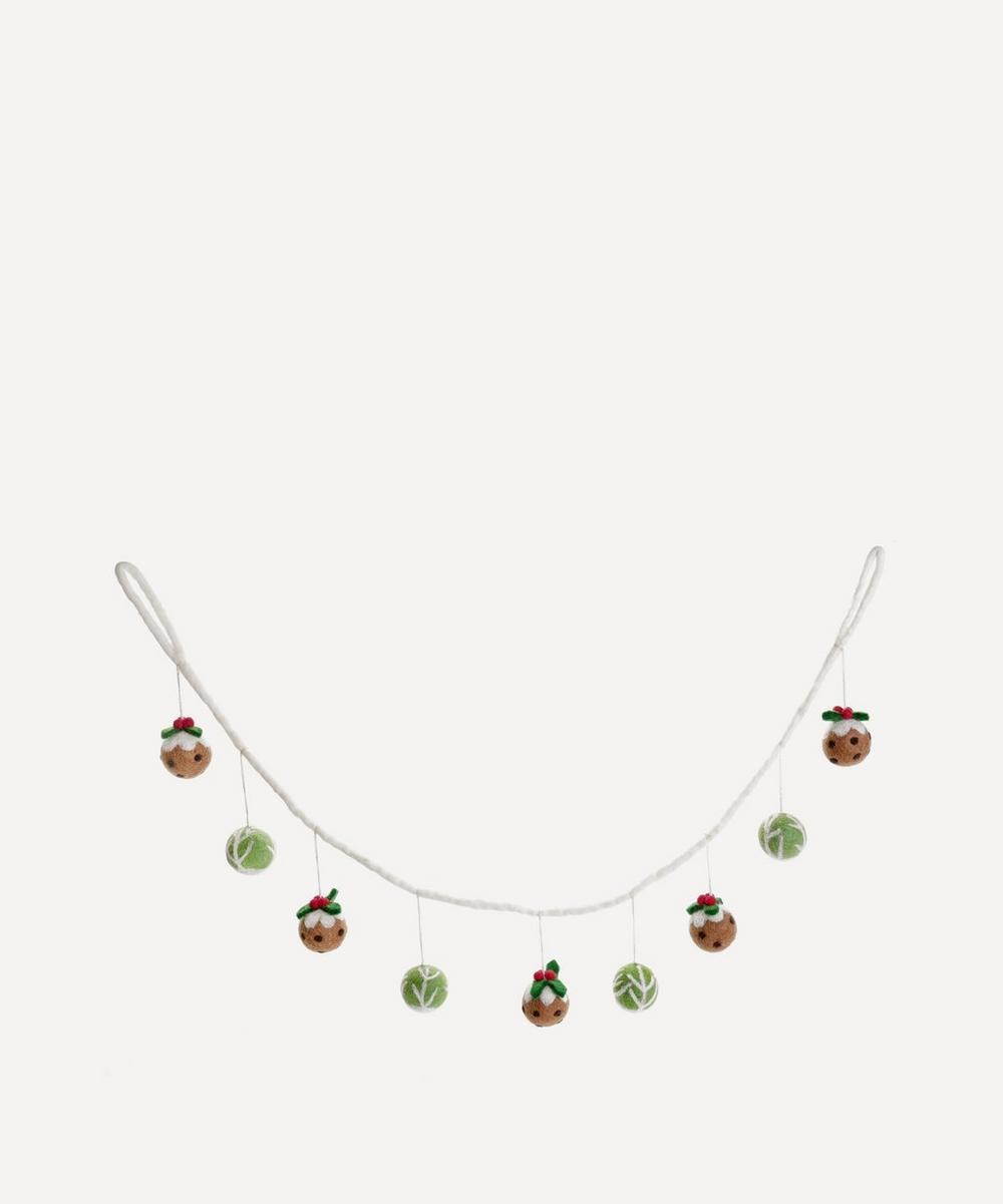 Unspecified - Felt Brussel Sprout and Christmas Pudding Garland