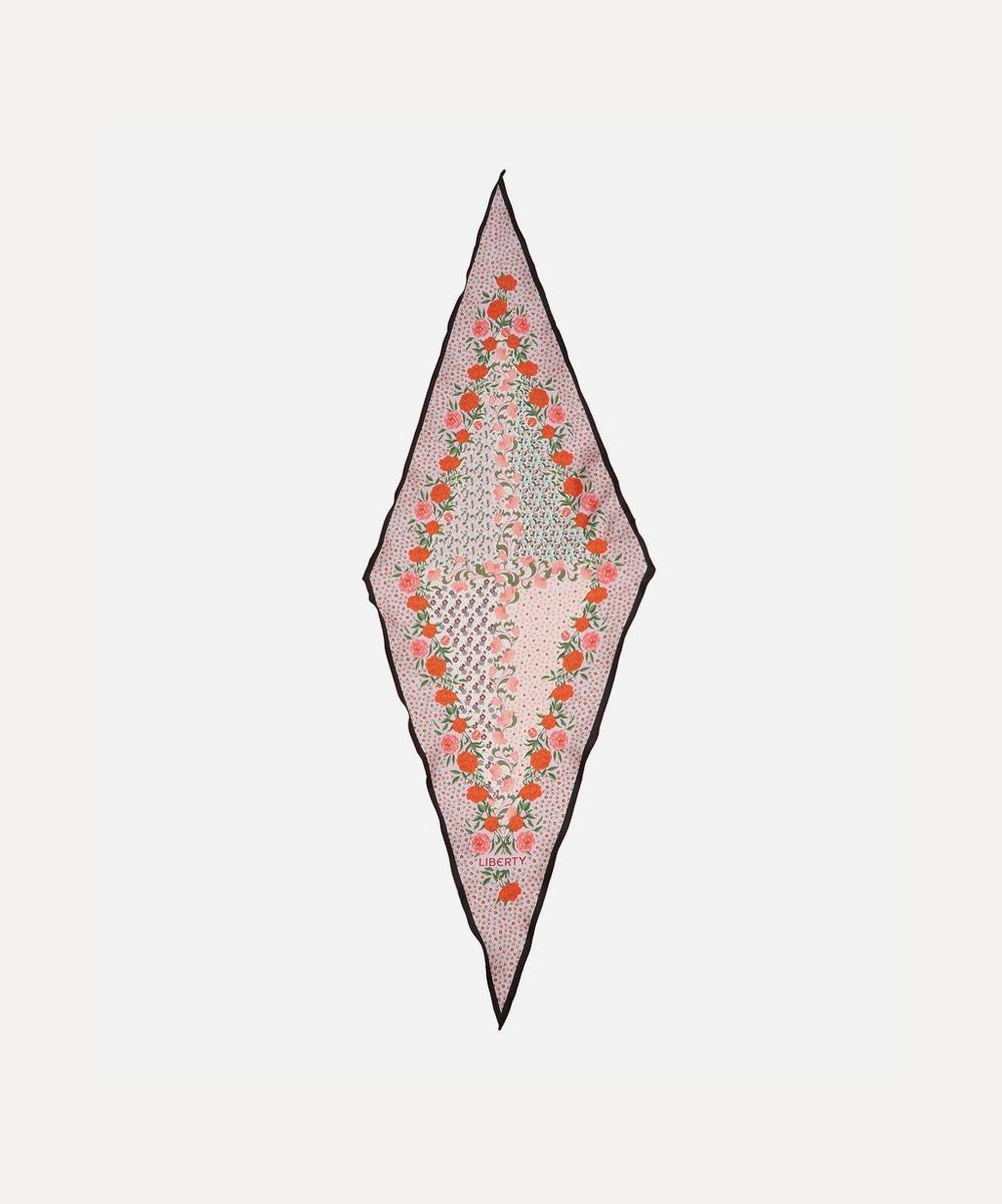 Liberty - Anita 36 x 106cm Silk Twill Lozenge Scarf