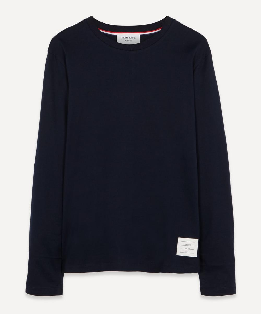 Thom Browne - Long Sleeve Side Split Cotton T-Shirt