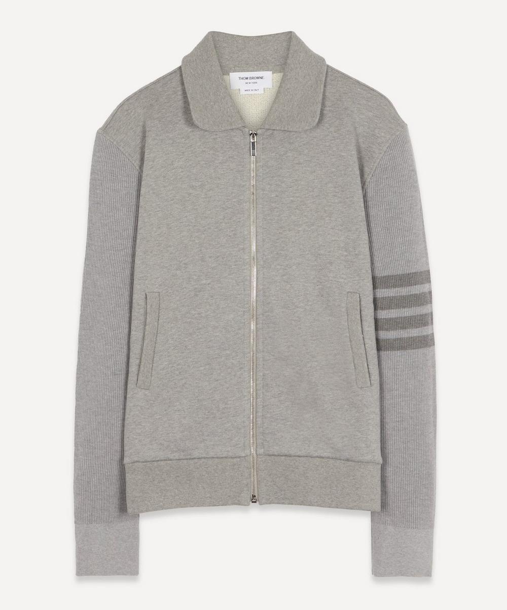 Thom Browne - 4-Bar Zip-Up Sweater
