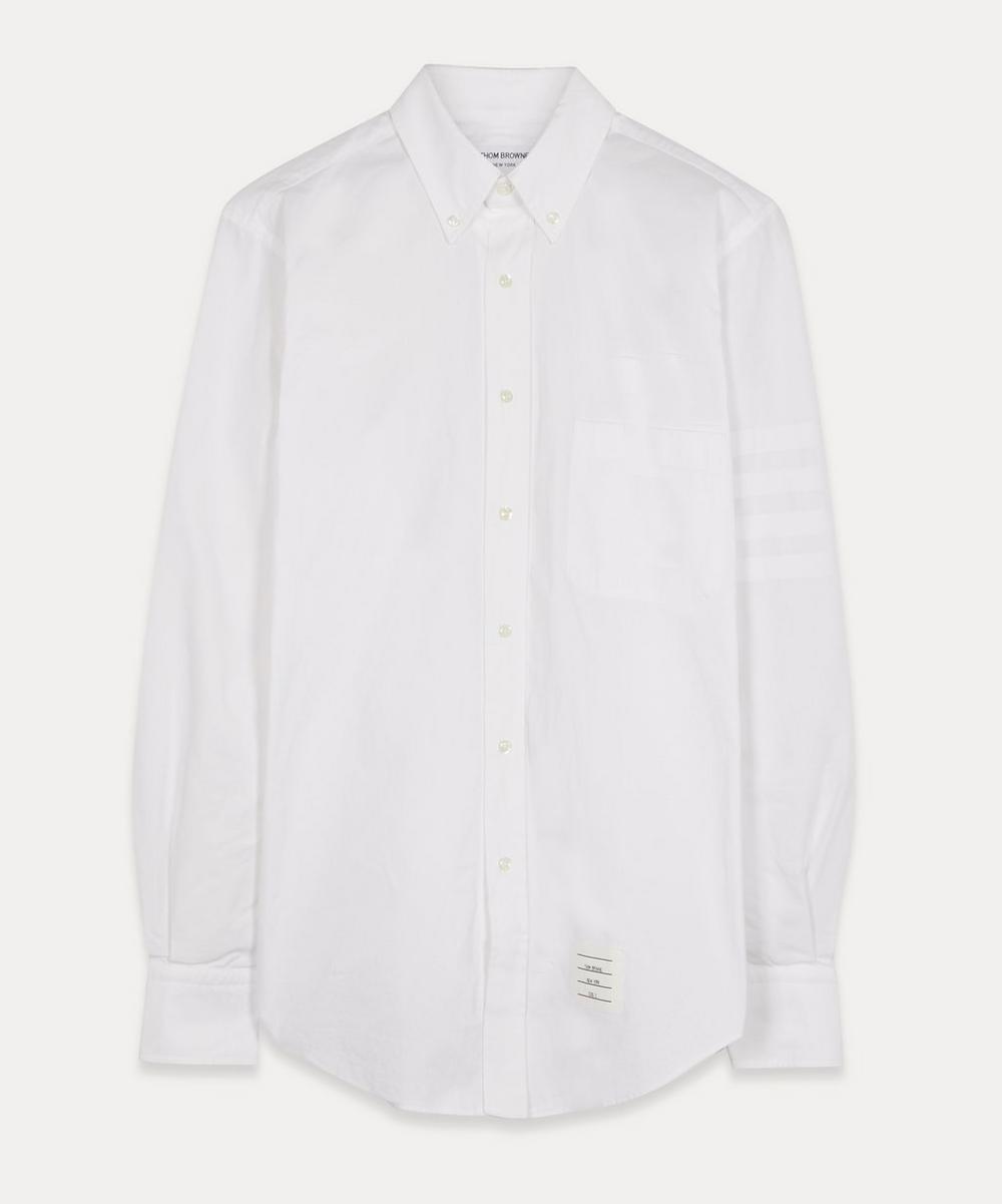 Thom Browne - Satin Weave 4-Bar Oxford Shirt