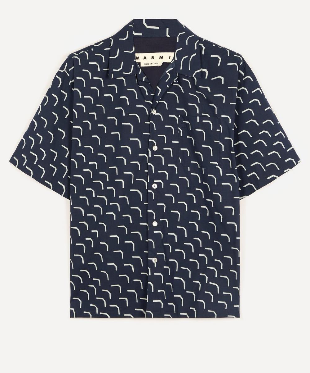 Marni - Geo Print Open-Collar Shirt