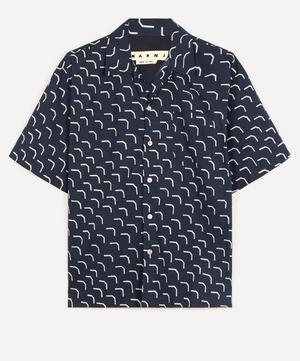Geo Print Open-Collar Shirt