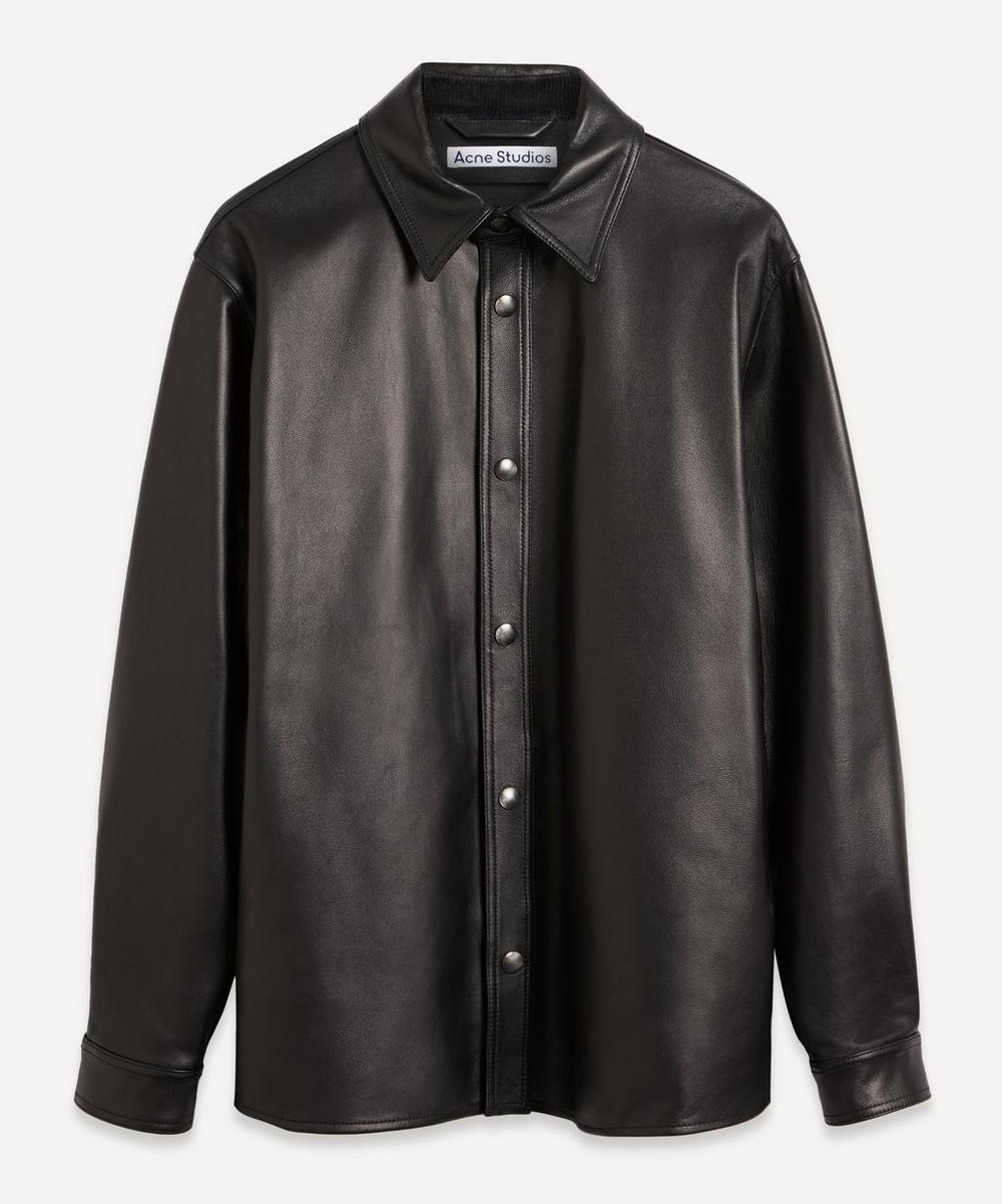 Acne Studios - Snap-Button Leather Overshirt