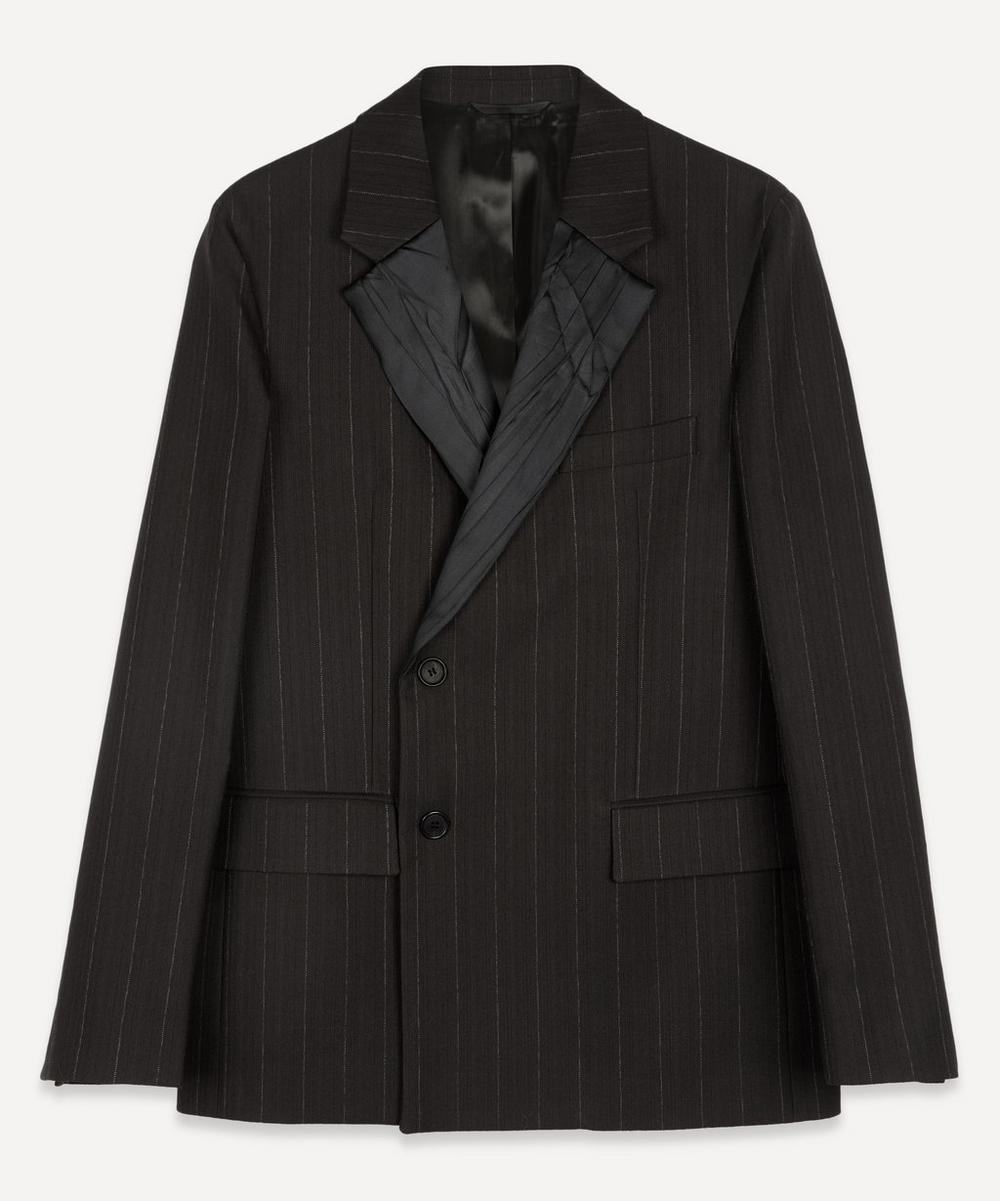Acne Studios - Crinkle Satin Double-Breasted Pinstripe Jacket