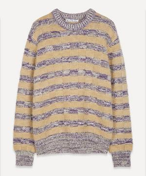 Kai Textured Stripe Wool-Blend Jumper