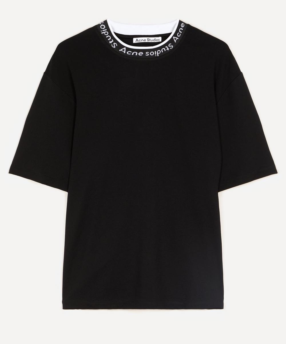 Acne Studios - Oversized Logo Rib Neck T-Shirt