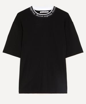 Oversized Logo Rib Neck T-Shirt