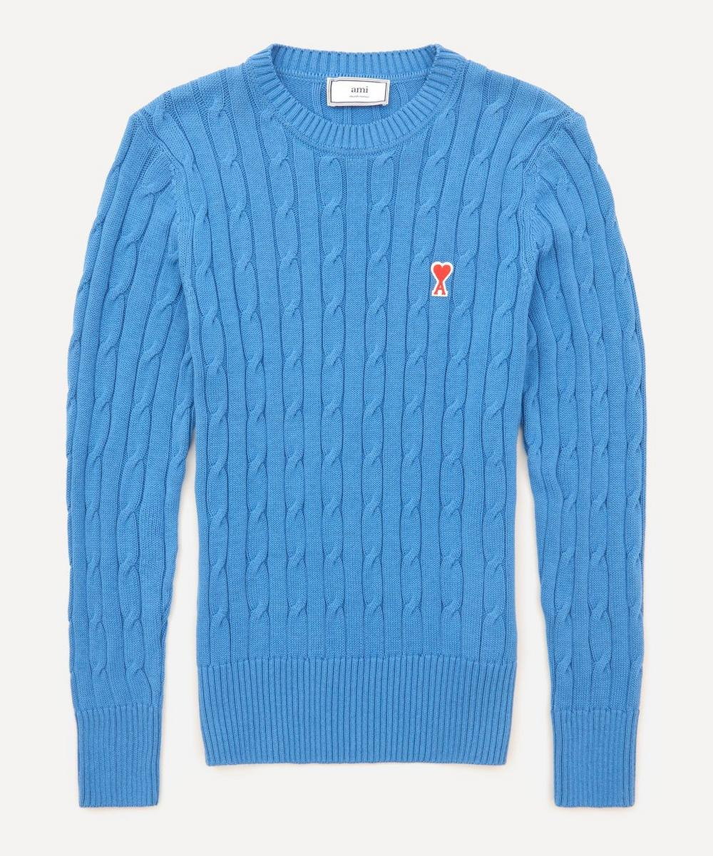 Ami - Logo Cable Knit Jumper