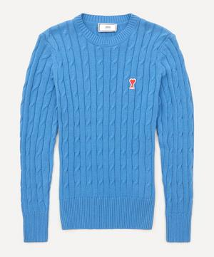 Logo Cable Knit Jumper