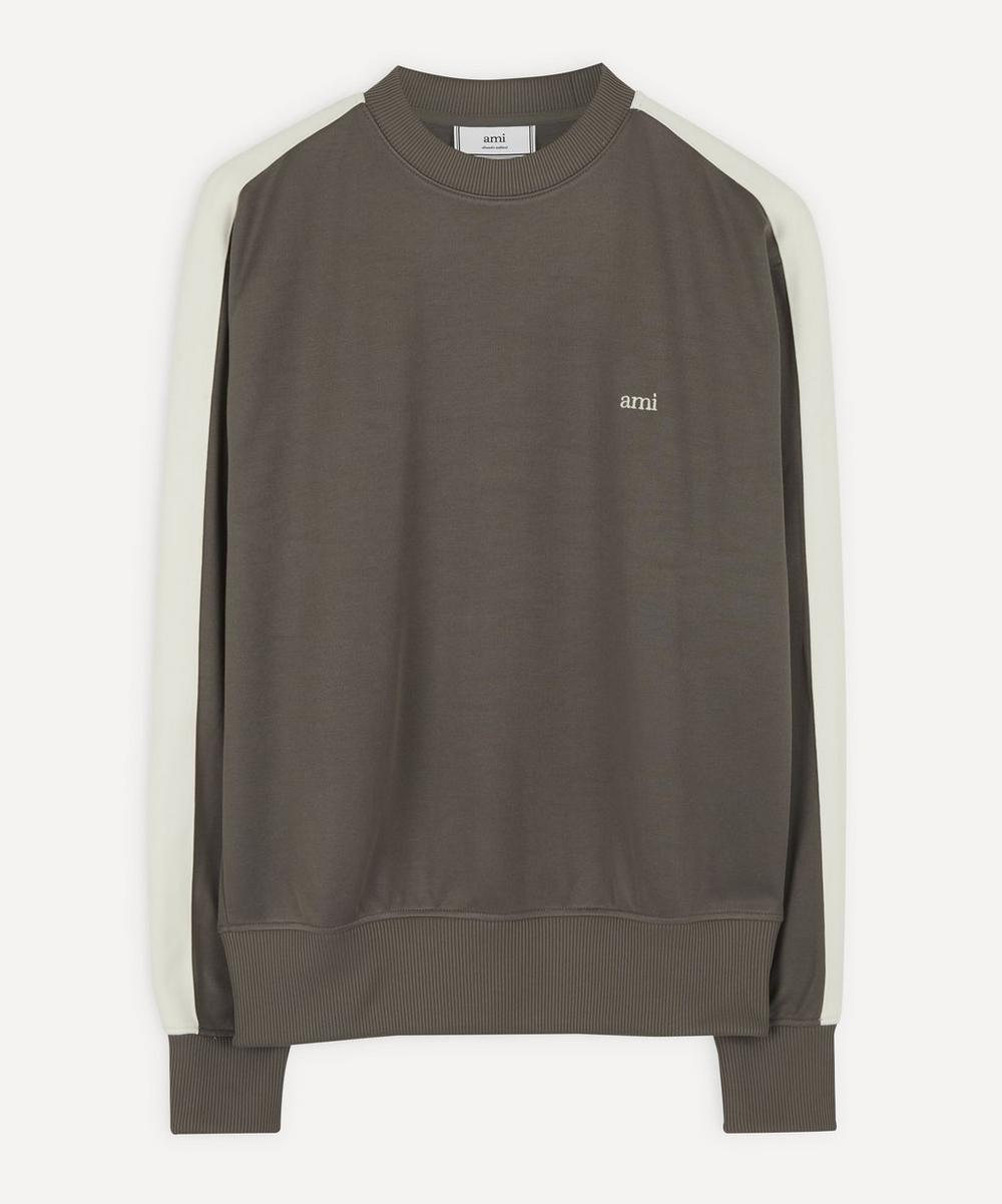 Ami - Logo Silky Cotton Sweater