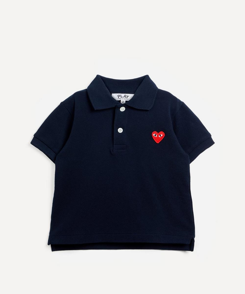 Comme des Garçons Play - Heart Embroidered Polo Shirt 2-6 Years