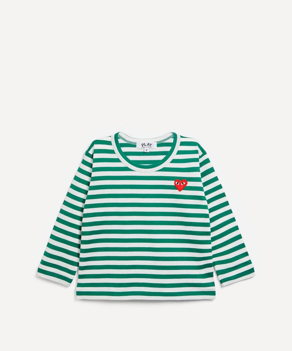 Comme des Garçons Play - Striped Cotton T-Shirt