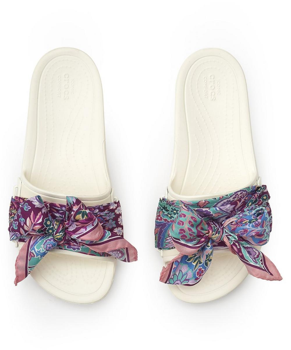 Liberty - X Crocs Ianthe Slides with Liberty Silk Scarf