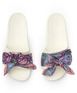 X Crocs Ianthe Slides with Liberty Silk Scarf