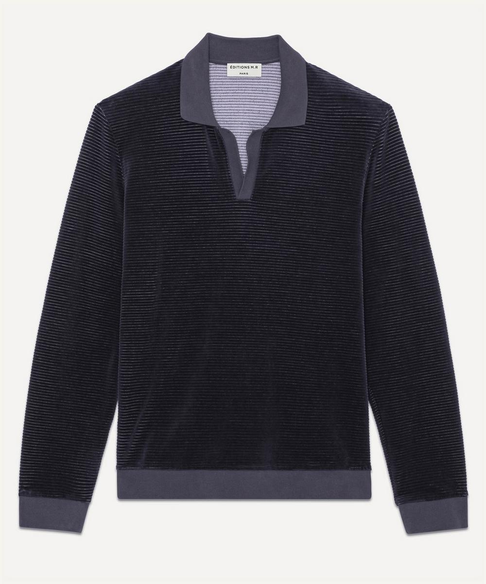 Éditions M.R - Jimmy Ribbed Velvet Polo Shirt