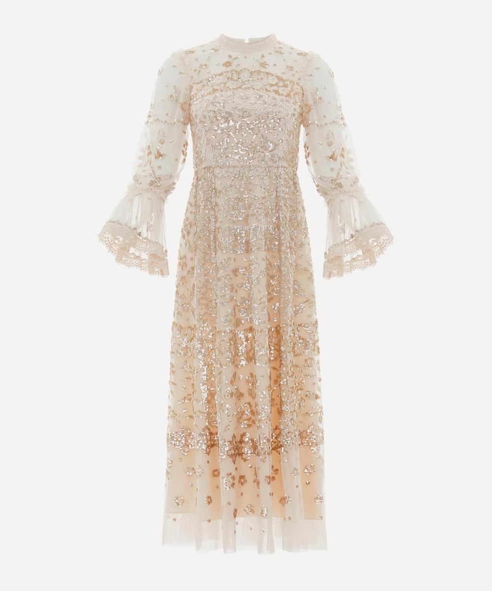 Needle & Thread - Patchwork Sequin Ballerina Dress