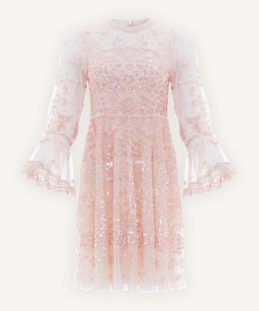 Needle & Thread - Patchwork Sequin Mini-Dress