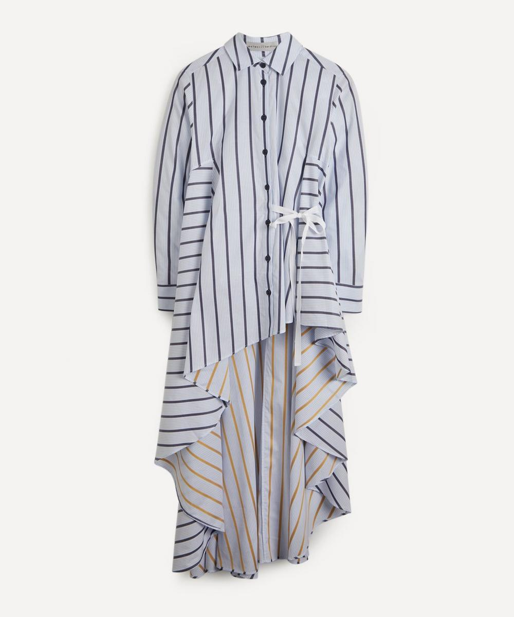 palmer//harding - Super Striped Collarless Shirt