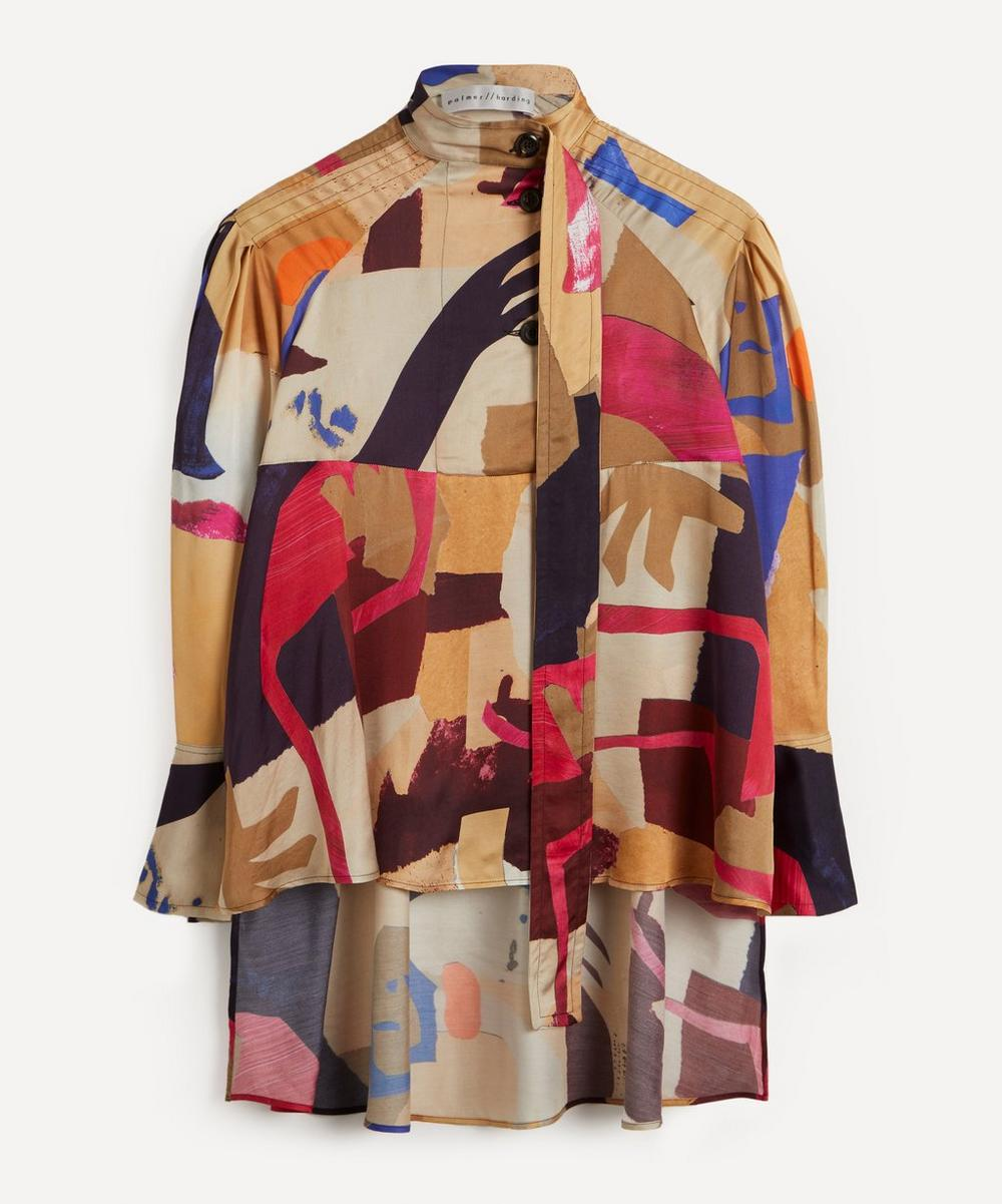 palmer//harding - Rhesus Printed High-Neck Blouse