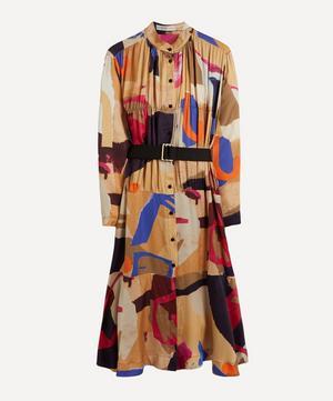 Leuca Printed Midi Shirt-Dress