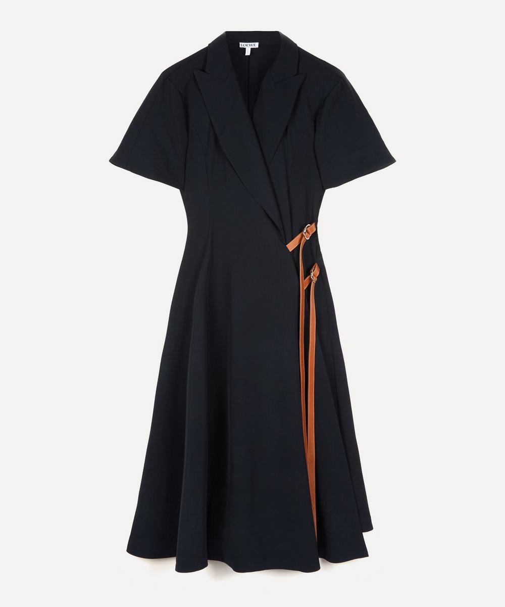 Loewe - Leather Belt Wrap Midi-Dress