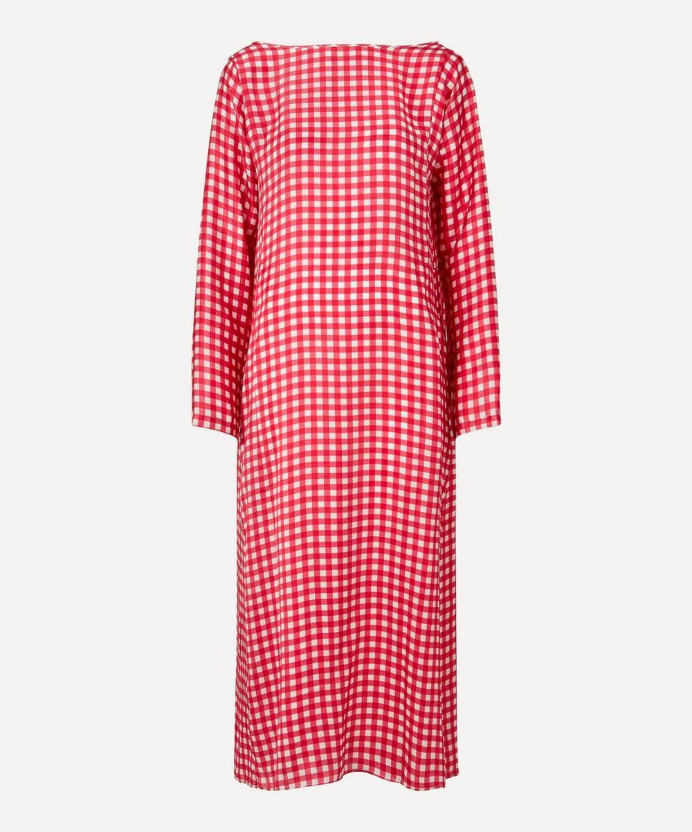 Bernadette - Kathy Gingham Silk-Satin Dress