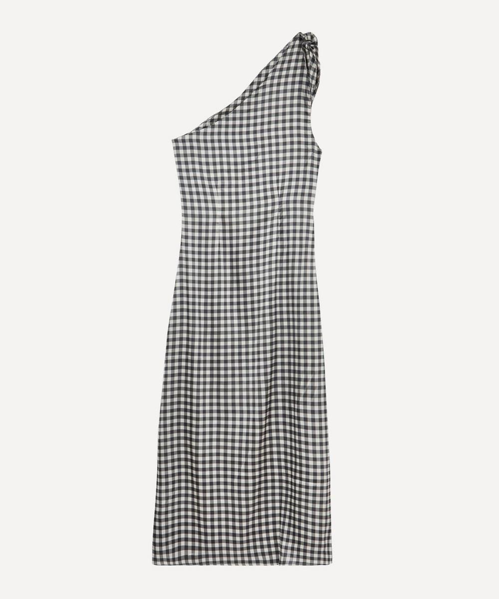 Bernadette - Gingham One-Shoulder Dress