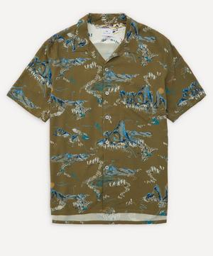 Mountain Print Short-Sleeve Shirt
