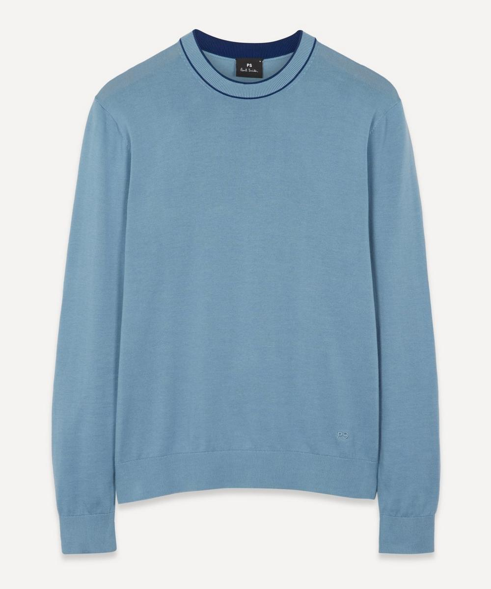 PS Paul Smith - Contrast-Trim Cotton Sweater