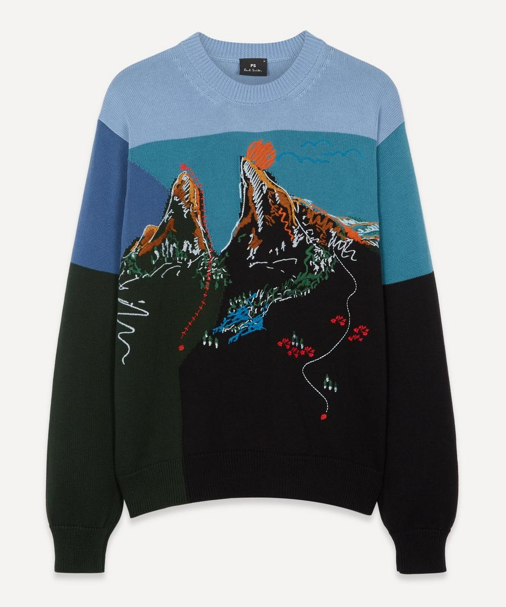 PS Paul Smith - Embroidered Mountain Sweater