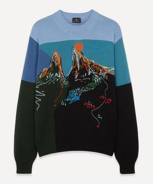 Embroidered Mountain Sweater