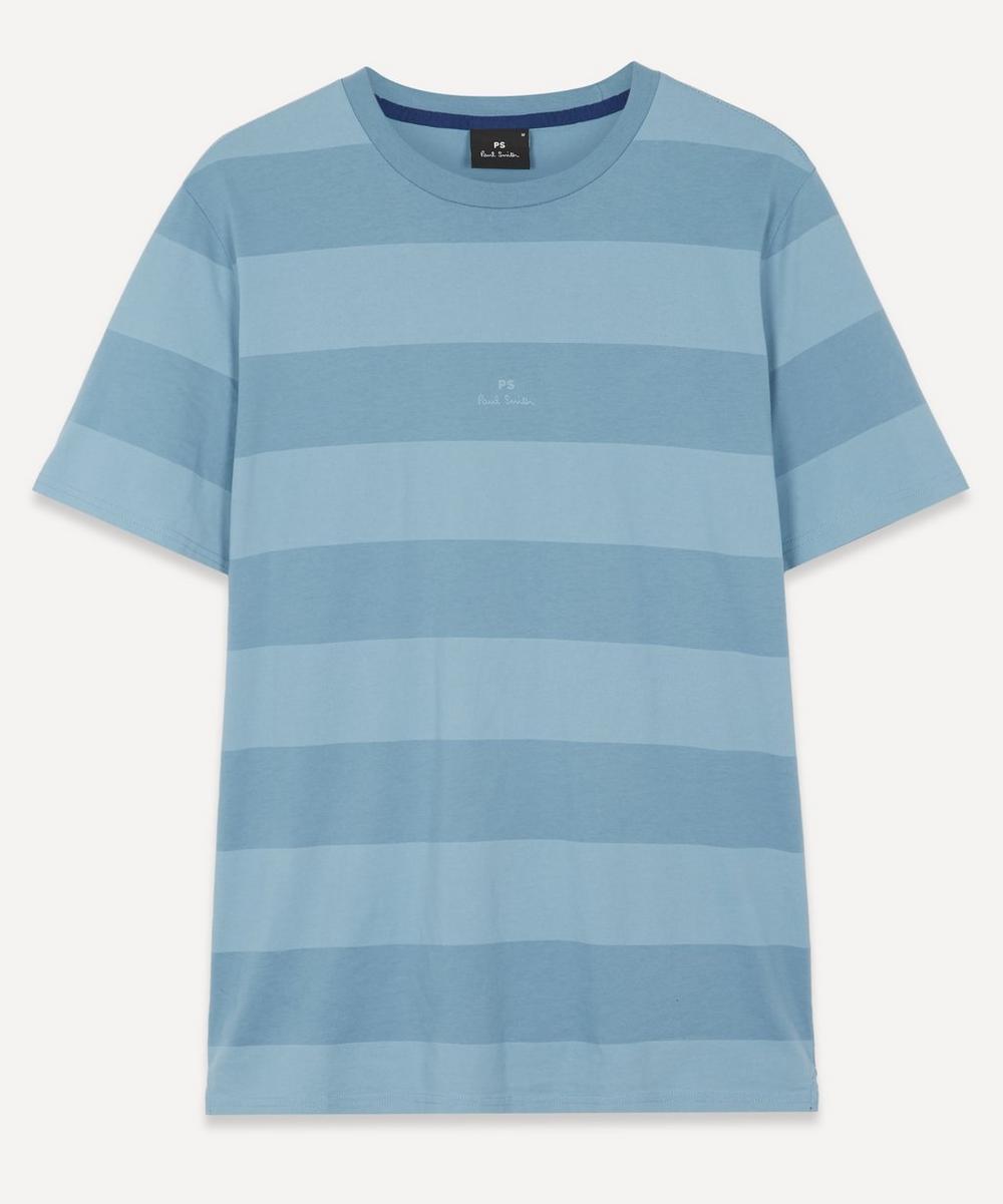 PS Paul Smith - Block-Stripe Organic Cotton T-Shirt