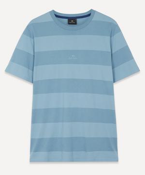 Block-Stripe Organic Cotton T-Shirt